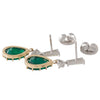 Pair of Emerald & Diamond Earrings