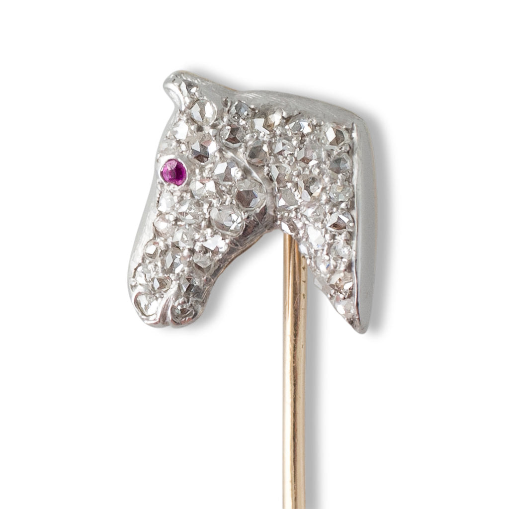 Antique Horse Head Stick Pin