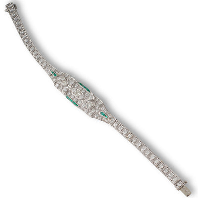 Diamond & Emerald Bracelet