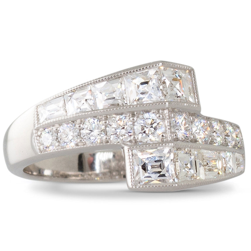 A Diamond Crossover Style Ring