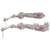 Art Deco Style Ruby & Diamond Drops