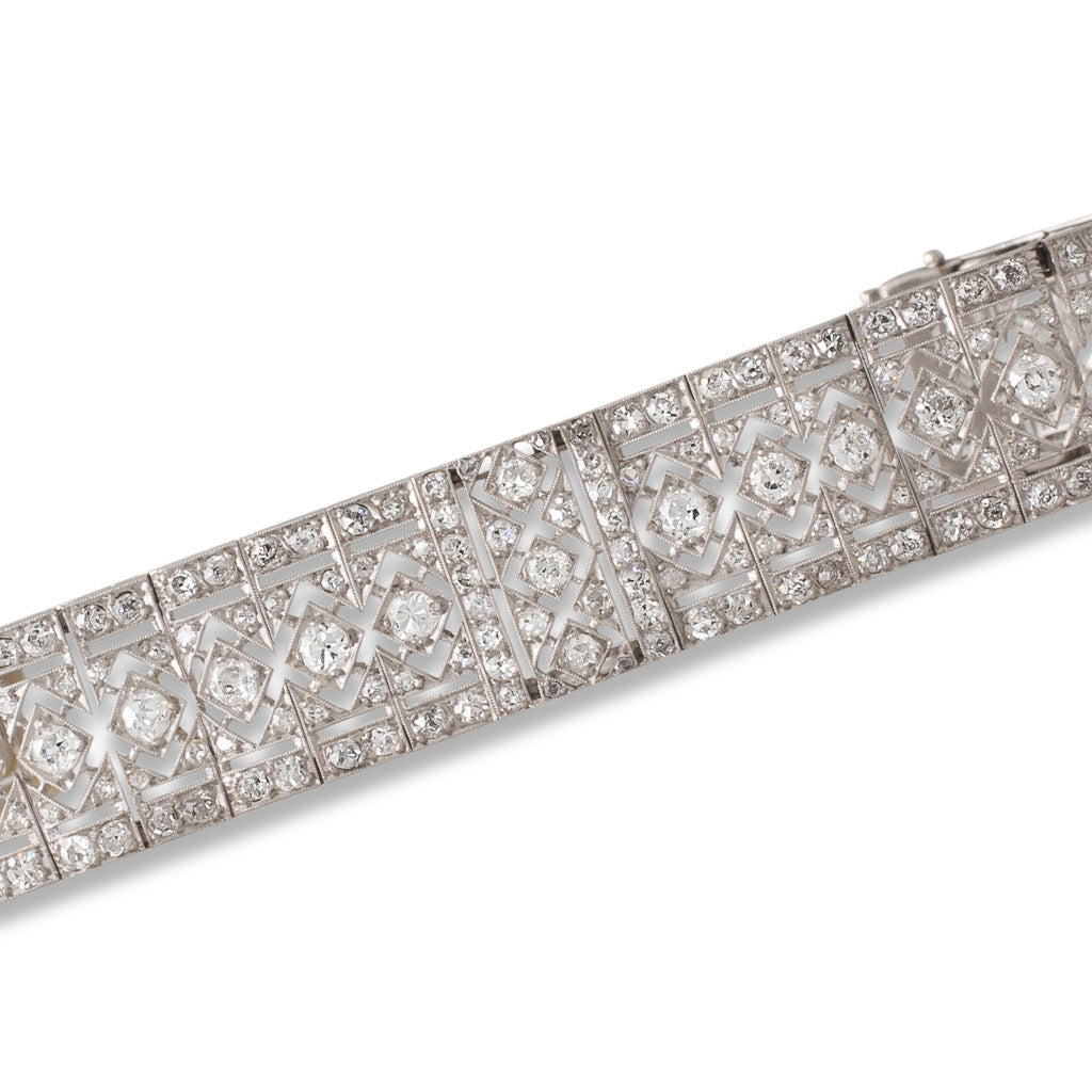 French Diamond Filigree Bracelet