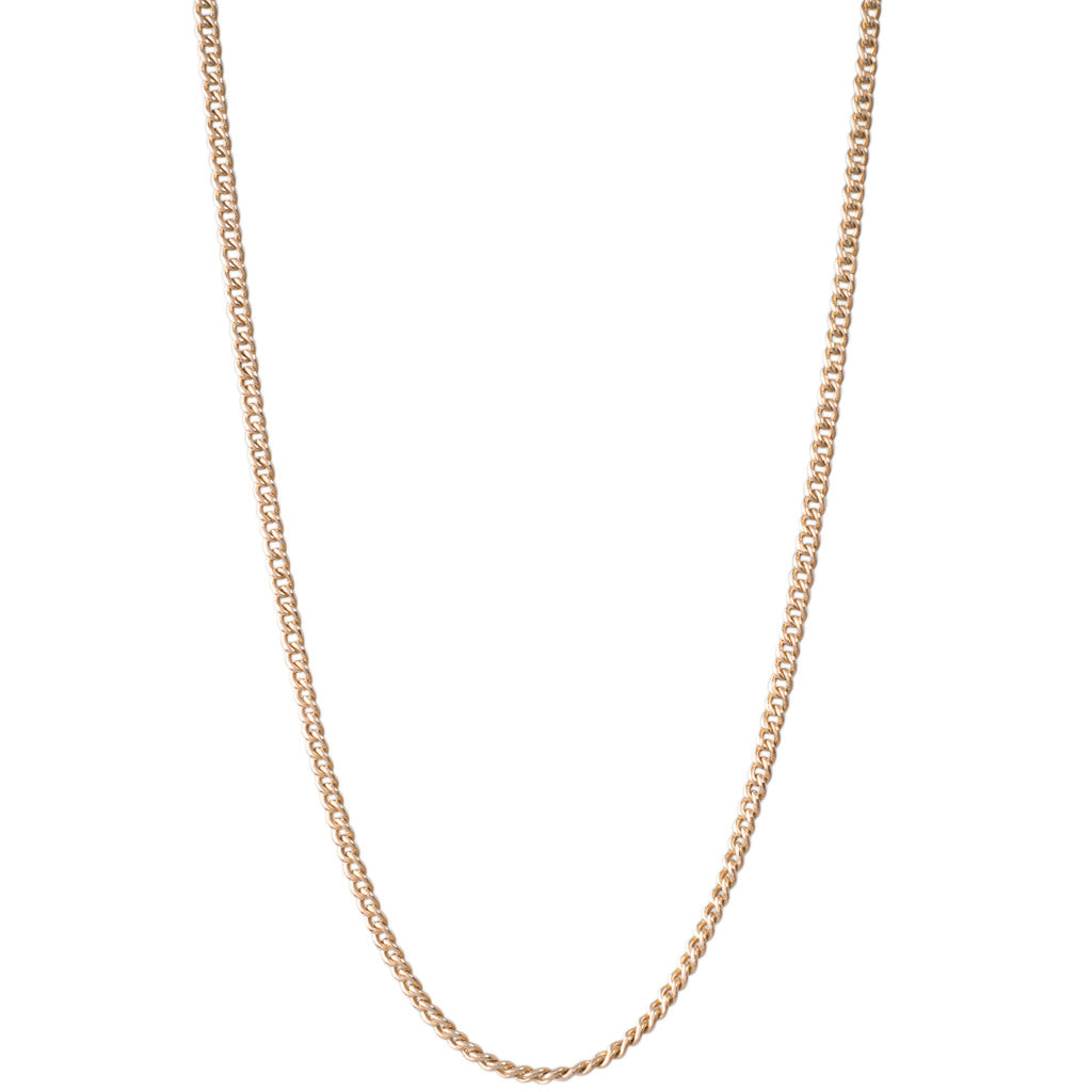 Yellow Gold Curb Link Chain
