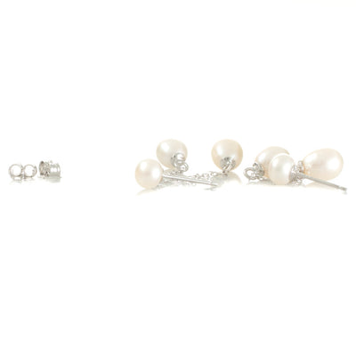 Double Drop Freshwater Earring