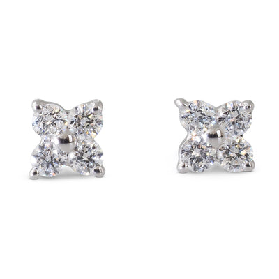 Flower Diamond Studs