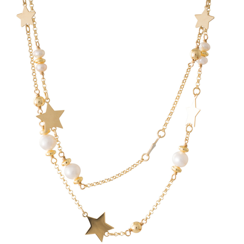 Short Freshwater Star Necklace