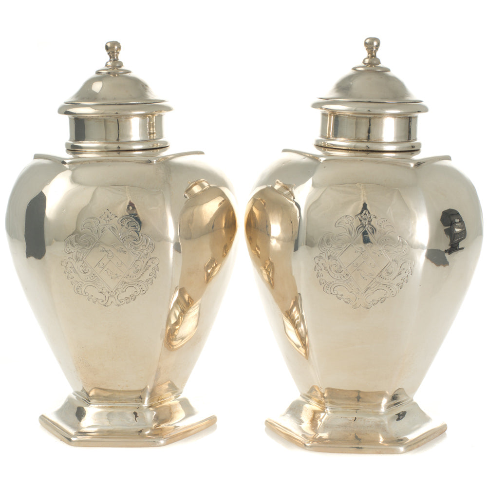 Rare Pair of Tea Caddies