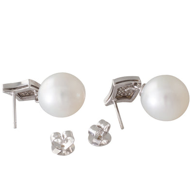 Australian Pearl & Diamond Earrings