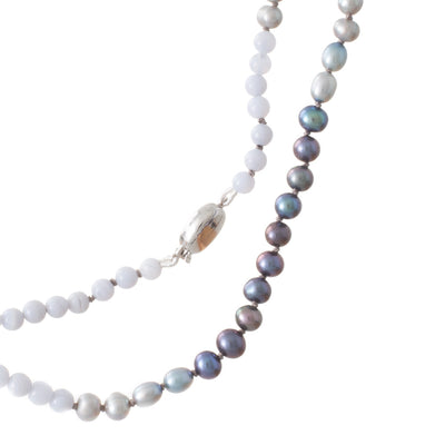 Agate & Freshwater Pearls Strand