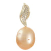 Gold South Sea & Diamond Pendant