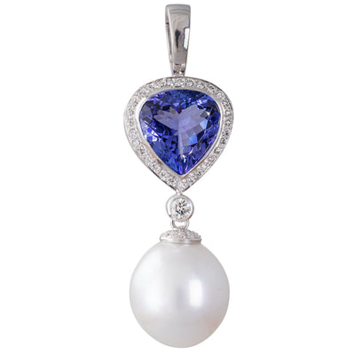 Pearl  Tanzanite & Diamond Enhancer