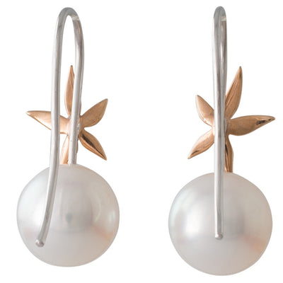 South Sea Pearl & Star Earrings