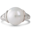 Pink & White Diamond Pearl Ring