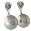 Spinel & Tahitian Pearl Earrings