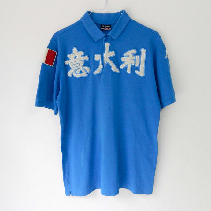 VIN-TEE-01983 Second hand t-shirt polo μπλε Kappa