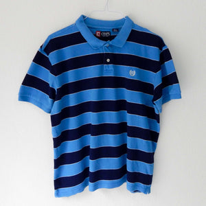 VIN-TEE-01996 Second hand t-shirt polo ριγέ γαλάζιο μπλε Ralph Lauren