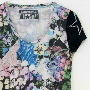 VIN-BLO-02443 Second hand t-shirt εμπριμέ μαύρο Converse all-star