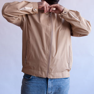 VIN-OUTW-07416 Vintage unisex λεπτό bomber τζάκετ μπεζ L