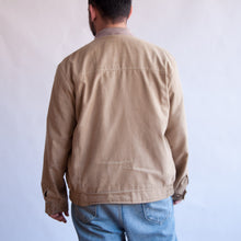 Load image into Gallery viewer, VIN-OUTW-07418 Vintage unisex λεπτό microsuede bomber τζάκετ μπεζ L