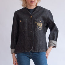 Load image into Gallery viewer, VIN-OUTW-06590 Vintage denim τζάκετ μαύρο M