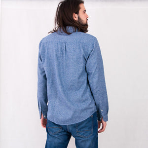 VIN-SHI-05129 Second hand flannel πουκάμισο unisex L