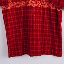 Load image into Gallery viewer, VIN-SHI-07769 Vintage πουκάμισο crazy pattern brick red unisex L