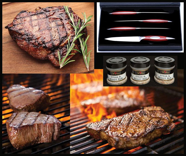 Cattleman's Steak & Knife Set