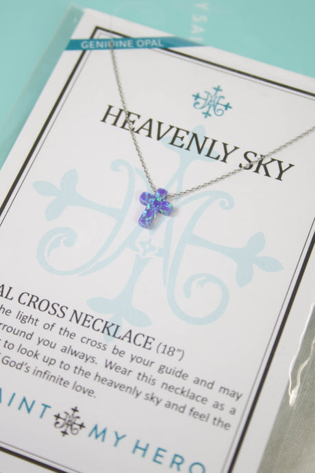 Heavenly Sky Cross Necklace