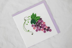 Quilling Card Grapes