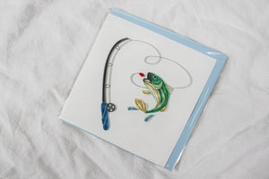 Quilling Card Fishing