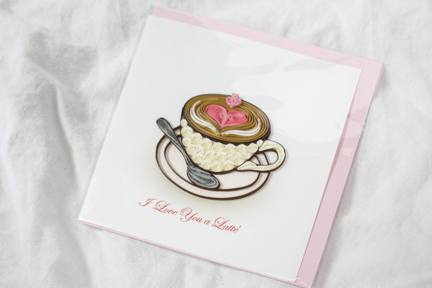 Quilling Card I Love You a Latte