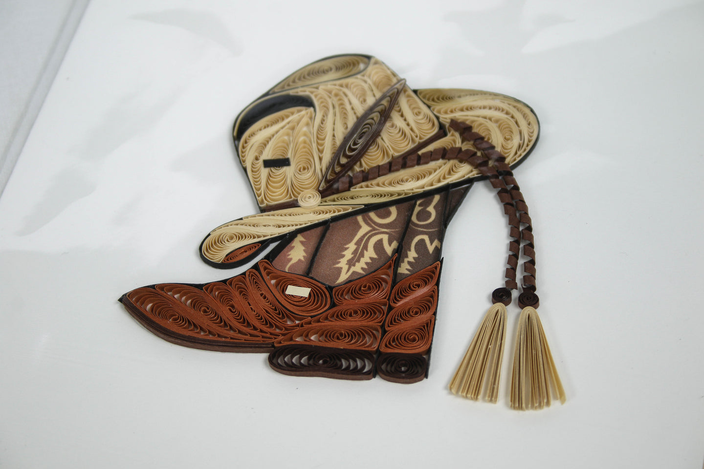Quilling Card Cowboy