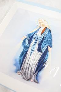 Quilling Card Virgin Mary