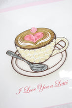 Load image into Gallery viewer, Quilling Card I Love You a Latte
