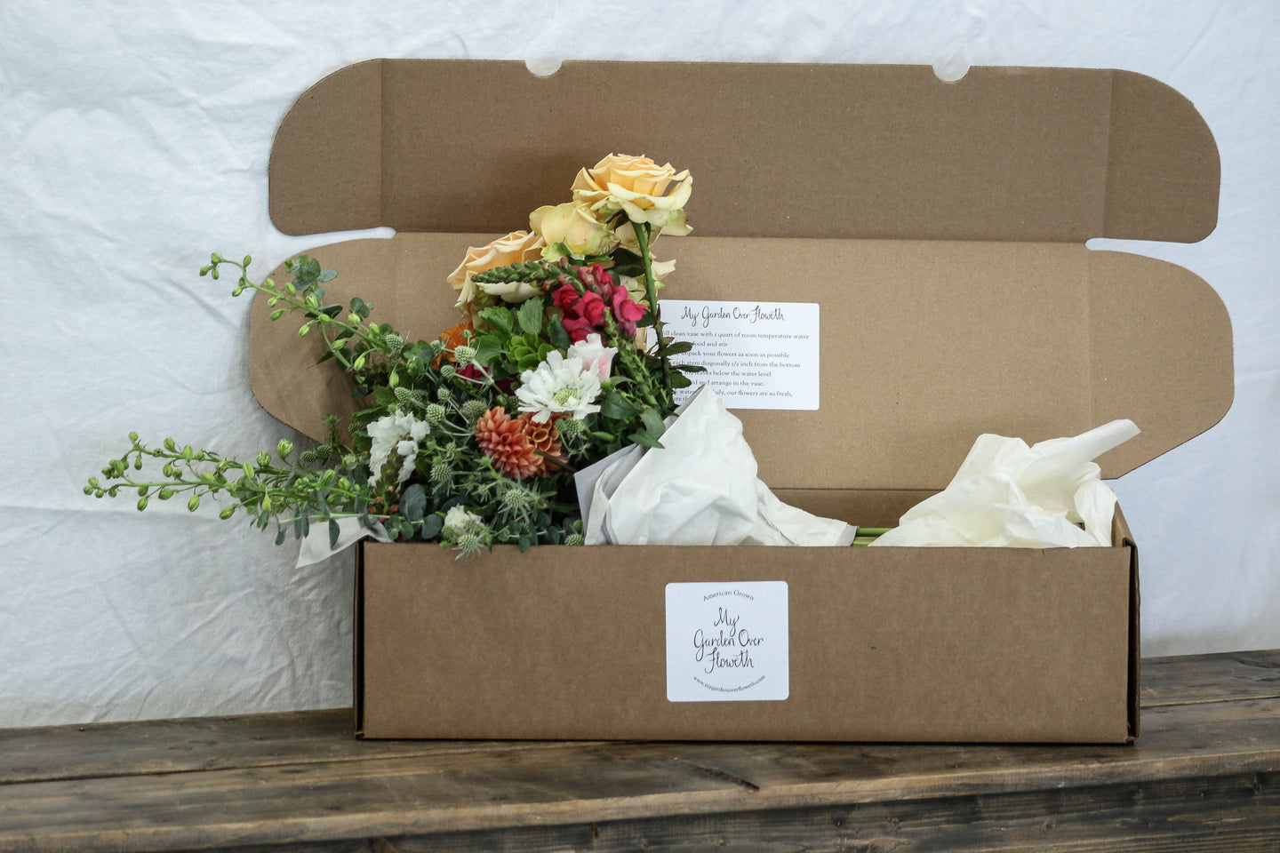 Hand Tied Bouquet Box