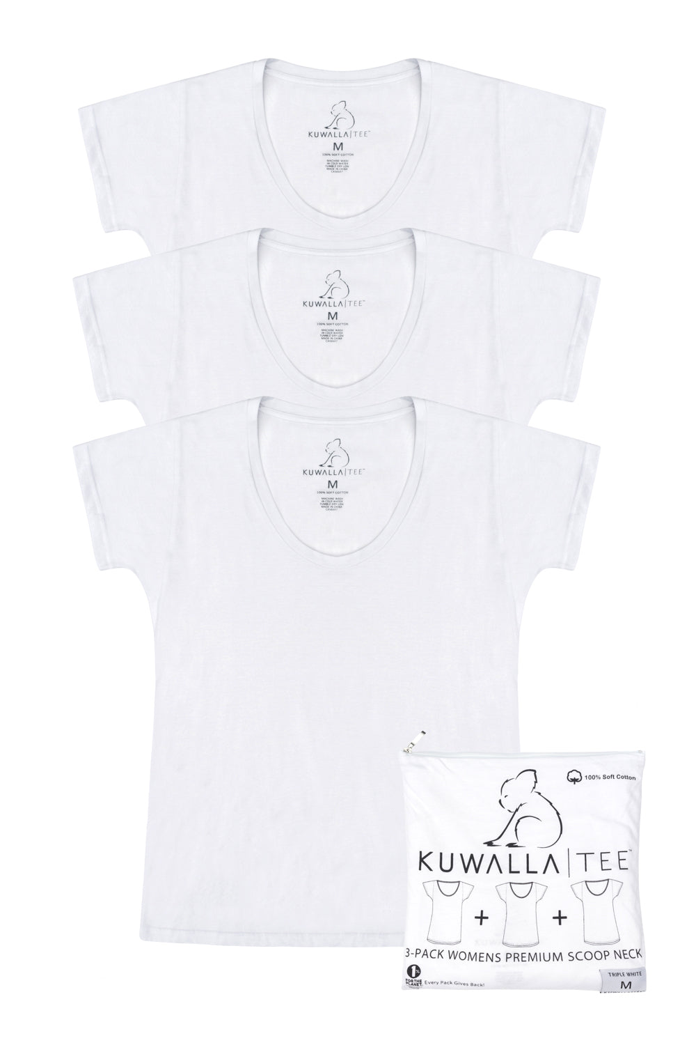 WMNS Scoop Neck Triple White