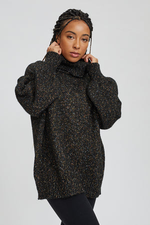 Speckled Turtle Neck