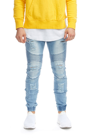 Biker Denim Jogger Kamikaze Bleach