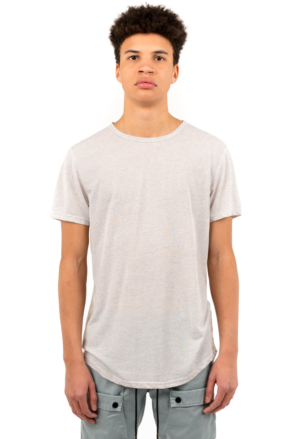 Hi-Lo Linen Scoop Tees