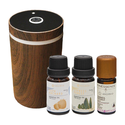 Synergy Kit: 1 Aromeo Diffuser + 3 Essential Oils - Miscato
