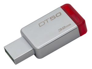 Kingston 32GB USB 3.0 DataTraveler 50 Metal/Red