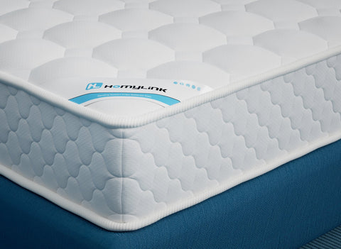 HomyLink GILIA Breathable Knitting Fabric Memory Foam Pocket Sprung Mattresses