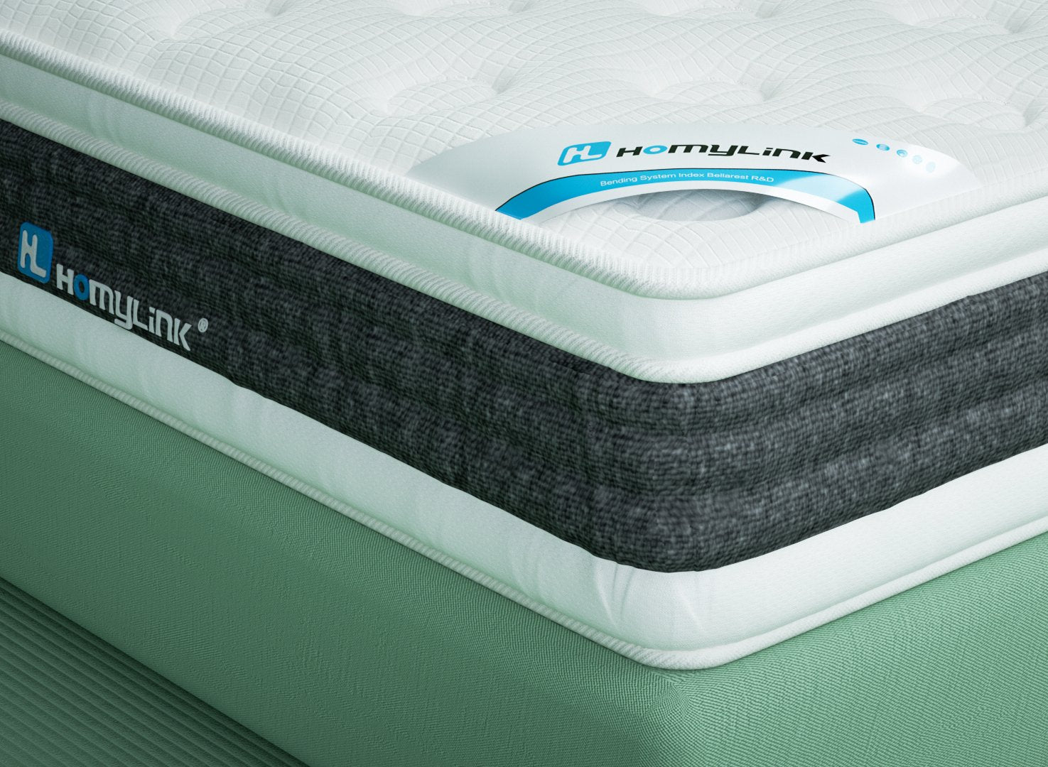 PINE Cooling Gel Memory Foam Pocket Sprung Mattress Breathable Knitting