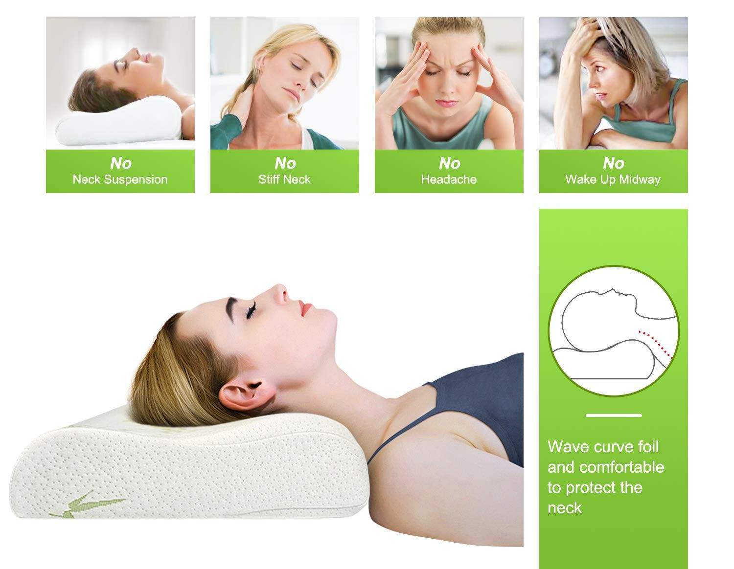 Pressure relief and soft bamboo pillow