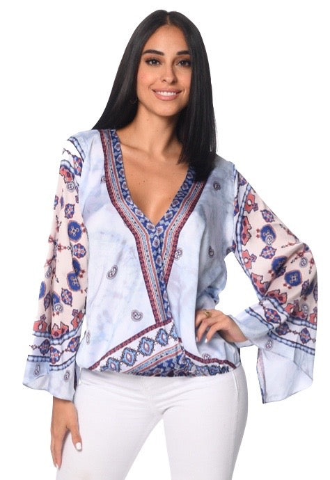 Lucia Top Tribal Print
