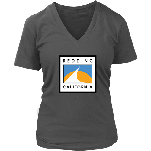 Redding Flag District Womens V-Neck