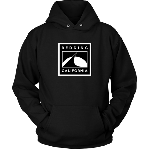 Redding Black and White Unisex Hoodie