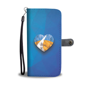 Polygonized Heart Wallet Case