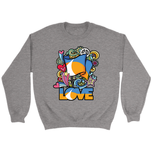 LOVE Redding Retro Crewneck Sweater