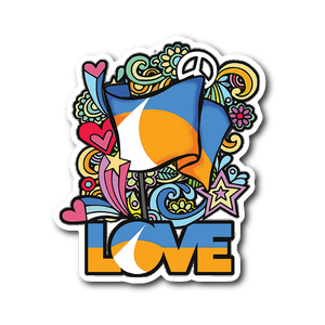 LOVE redding Retro Sticker